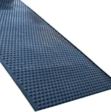 Rhino Mats UDR3672 Tritan Ultra-Dome Rolls Anti-Fatigue Welding Mat, 3' Width x 6' Length x 5/8'' Thickness, Solid Black