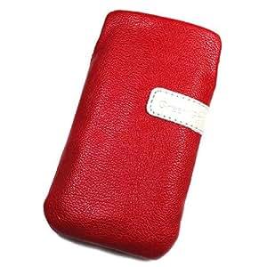 Funda de protección de piel sintética para Samsung U300 M, color rojo