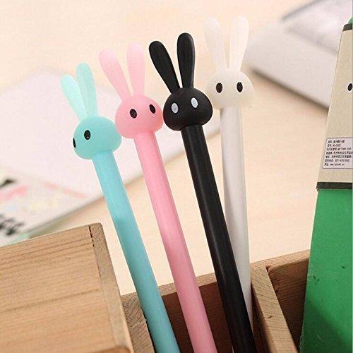 12 Pack Bunny Rabbit Gel Ink Pen 0.5mm Kawaii Student Office Supplies ()