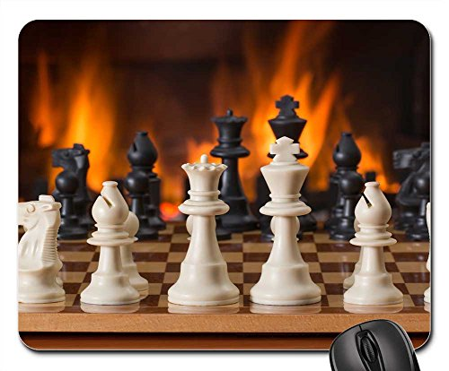 Mouse Pads - Chess Board Game Fireside Strategy Play ()