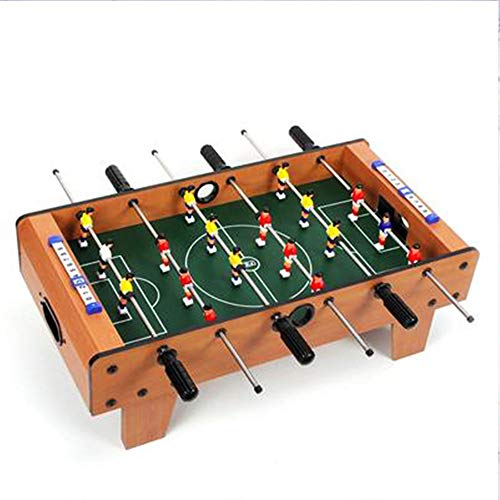 Portable Mini Tabletop Foosball Table Boy Interactive Soccer Game Set with Two Balls and Score Keeper for Adults Kids by Hey! Play!