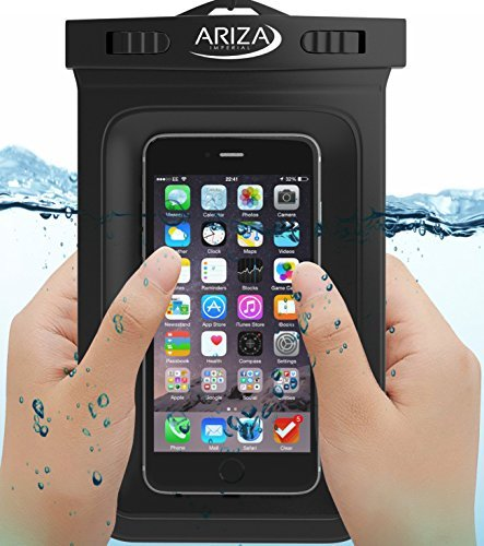 Ariza Imperial iPhone 6 Waterproof Case Universal With Lanyard Strap for iPhone 5 5S 6 6 Plus, Samsung Galaxy S3 S4 S5 S6 S6 Edge, BlackBerry, HTC One M9 M8 M7, Samsung Galaxy Note 1 2 3 4, LG G4 G3 G2