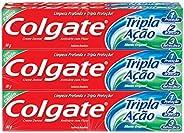 Creme Dental Colgate Tripla Ação Menta 90g, pacote com 6 unidades, Colgate