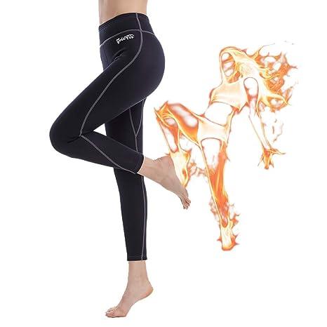 548d6f81919d8 GoldFin Women Sauna Pants, High Waist Neoprene Pants with Pocket for  Workout Body Shaper,