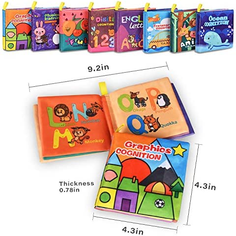 51nG0gprA3L. AC - Baby Bath Books,Nontoxic Fabric Soft Baby Cloth Books,Early Education Toys,Waterproof Baby Books For Toddler, Infants Perfect Shower Toys,Kids Bath Toys Best Gift(Pack Of 8)