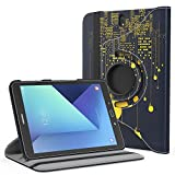 MoKo Galaxy Tab S3 9.7 Case - 360 Degree Rotating Cover Case With Auto Wake / Sleep for for Samsung Galaxy Tab S3 9.7 Inch Android 7.0 2017 Version Tablet (SM-T820 / T825), City Night View
