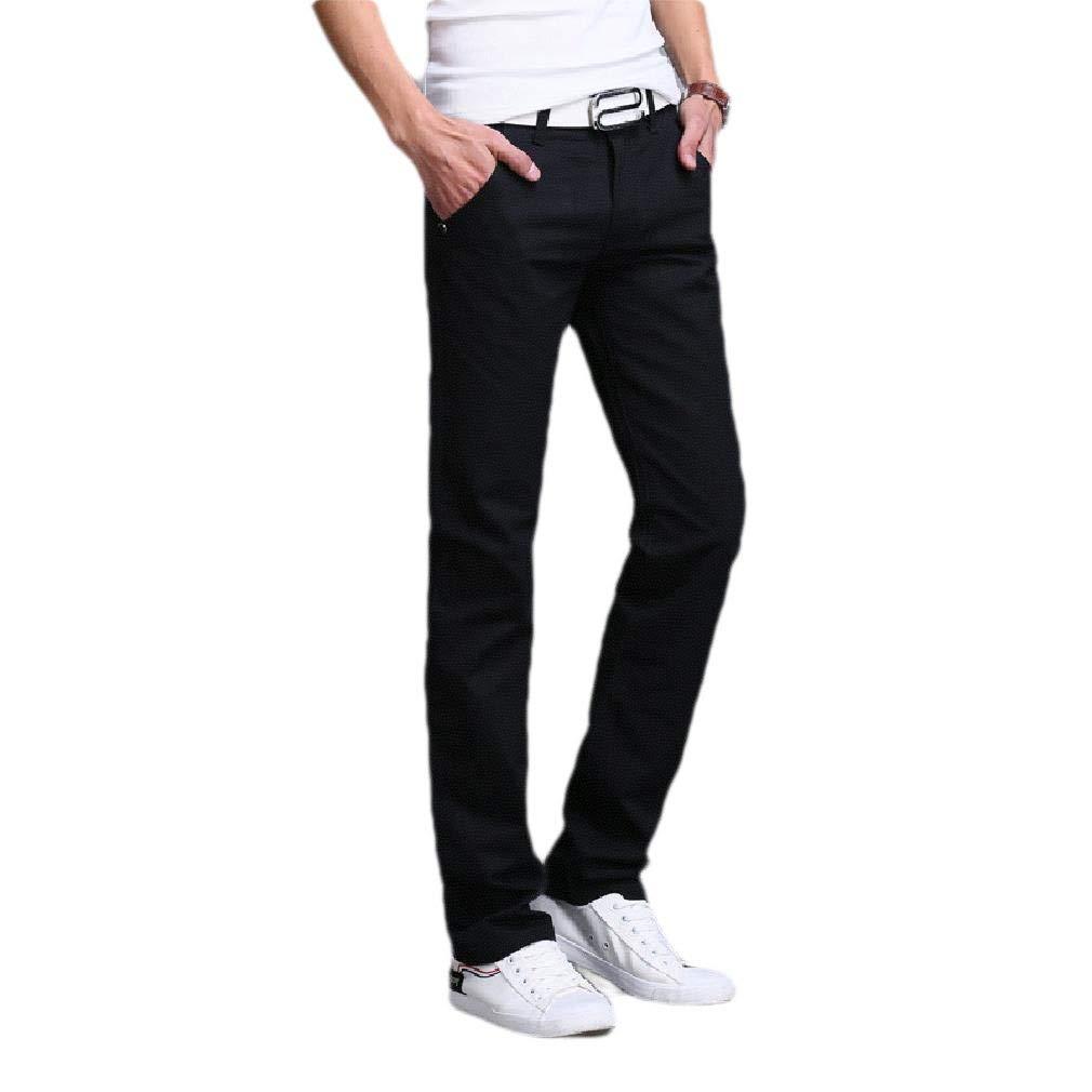 SportsX Mens Wrinkle-Resistant Stretchy Fit Straight Leg Plain-Front Pant