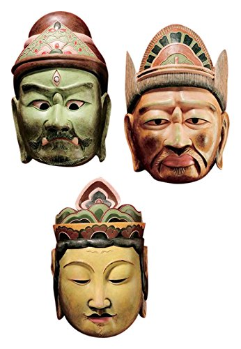 Design Toscano Processional Masks of The Devas Statue For Sale