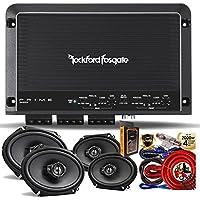 Rockford Fosgate R250X4 Prime 250 Watts 4-Channel Amplifier + (4) Kenwood KFC-C6895PS 6x8 3-Way Speaker + Amp Kit