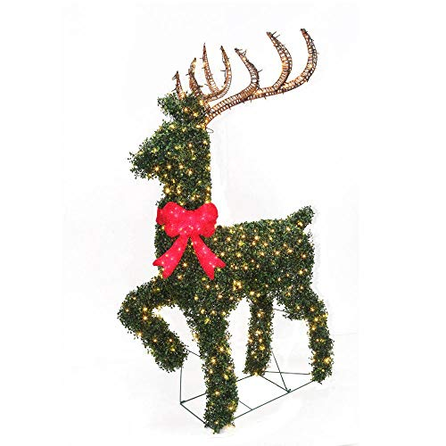 Home Accents Holiday 67 in.Topiary Deer Sculpture with 600 Super-Bright Warm White LED Lights