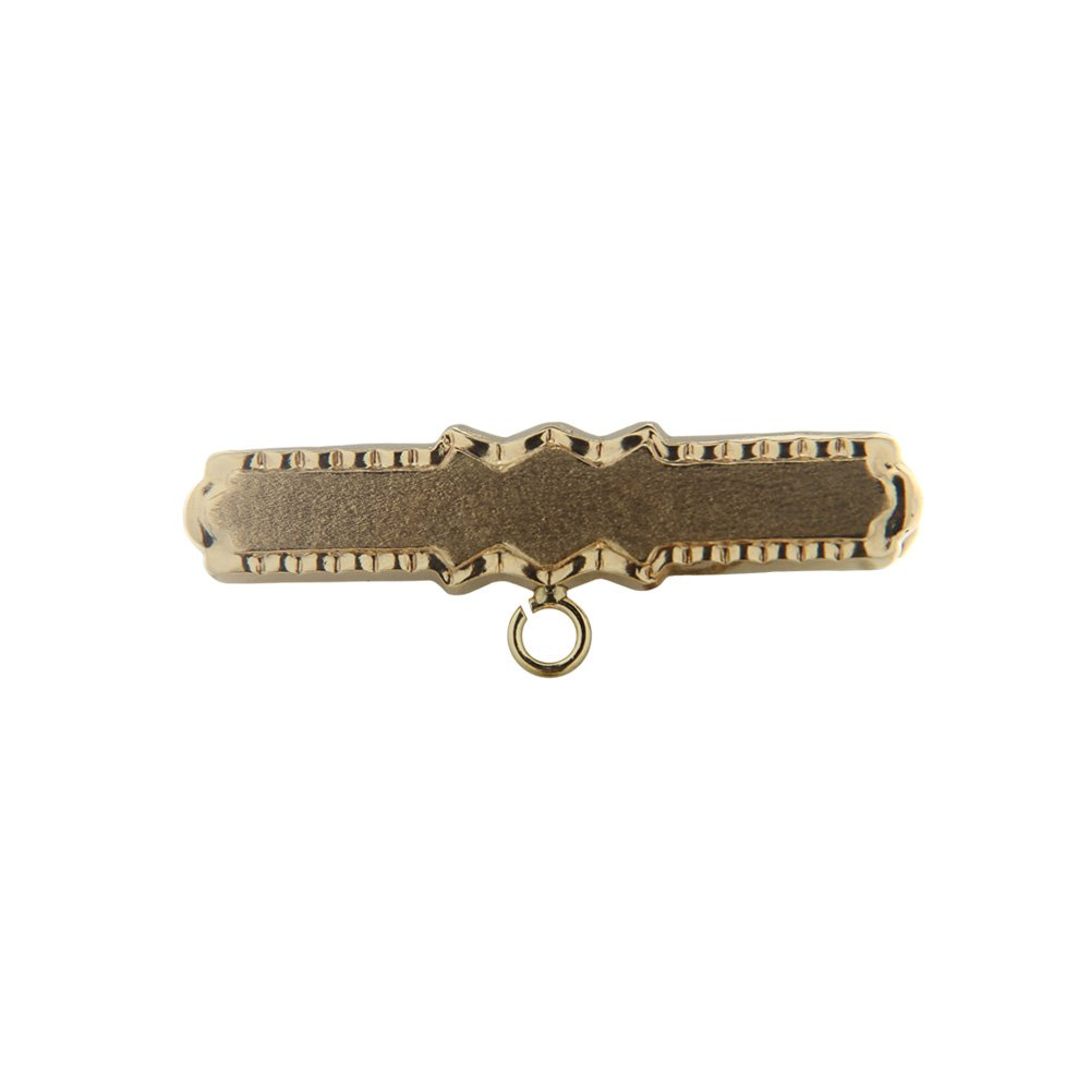 18K Yellow Gold Pin (30mm X 10mm)