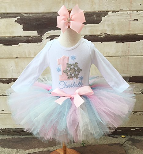 Winter Onederland 1st Birthday Tutu Outfit- Snowflake Themed -