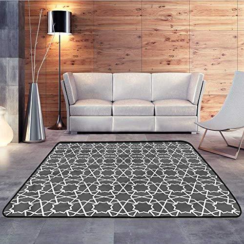 - Carpet Flooring,Arabian,Oriental Geometric PatternW 78.7