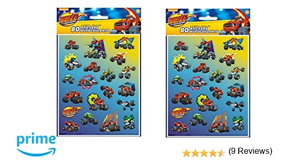 Amazon com blaze and the monster machines 8 sticker sheets 160 total stickers toys games