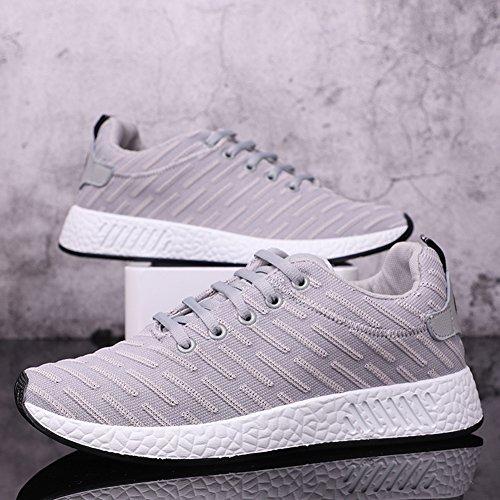 Pour Chaussures Homme Respirant Sneakers Basket Jogging Gris De Eté Fitness Sports Course Qimaoo qwYOtY