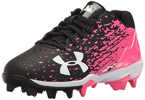 Under Armour Men's Leadoff Low Jr. RM Baseball Shoe, Black (064)/Cerise, 5.5