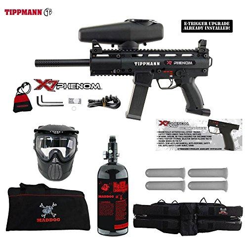 Tippmann X7 Phenom Beginner HPA Paintball Gun Starter Package - Black