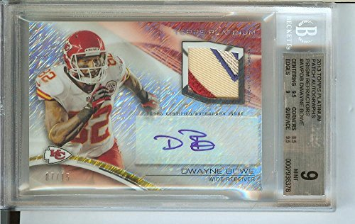 Football NFL 2013 Platinum Veteran Frost Refractor Autographed Patch #AVP-DB Dwayne Bowe MEM 7/15 Chiefs by Platinum