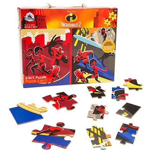 Disney Pixar Incredibles 2 Two-in-One Deluxe Puzzle Set