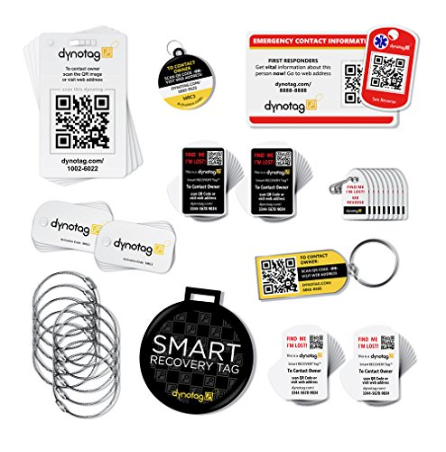 Dynotag® Savvy Traveler ULTIMATE Gift Pack: A Deluxe Assortment of Smart Tags by Dynotag