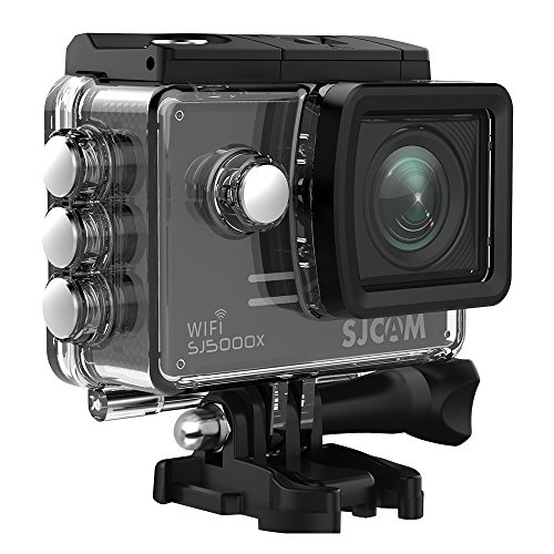4K Action Camera, SJCAM SJ5000X Elite Waterproof Wifi Underwater Camera- 4k@24FPS 12MP SONY Sensor/Gyro Stabilization/2.0 LCD Screen (Waterproof Case & Accessories Included)- Black by SJCAM