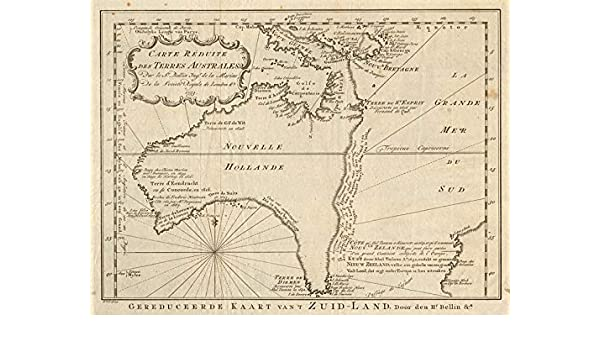 Carte Map Australia.Amazon Com Carte Reduite Des Terres Australes Pre Cook