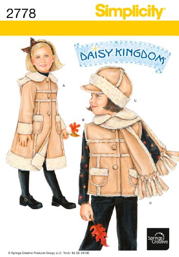 Simplicity Sewing Pattern 2778 Child Jackets and Coats, A (3-4-5-6-7-8)