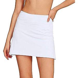 LMRYJQ Falda de Golf de Tenis Plisada Informal para Mujer con ...