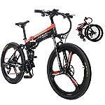 Sea blog 26 Pollici Fat Tire Electric Bike 400W 48V Snow Bici Elettrica Shimano 27 velocità Beach Cruiser Mens Women…