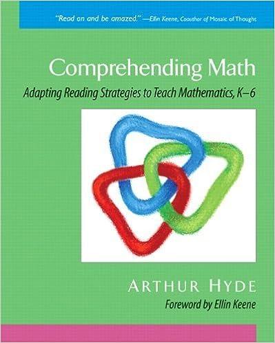 Comprehending Math: Adapting Reading Strategies to Teach Mathematics, K-6 1st by Hyde, Arthur (2006)