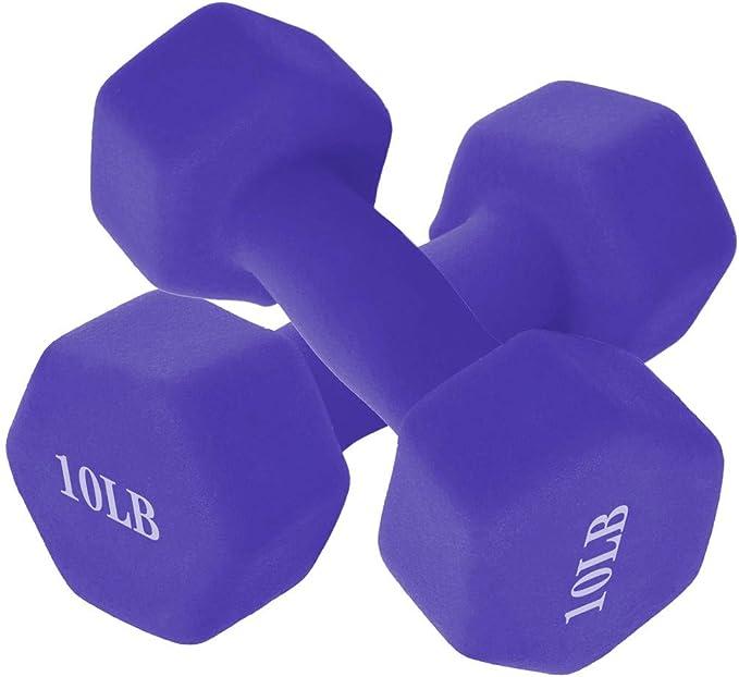 Details about  /2x 10 KG Rubber Encased Dumbbell Hex Weights Dumbell//Gym Workout Hand Dumbells