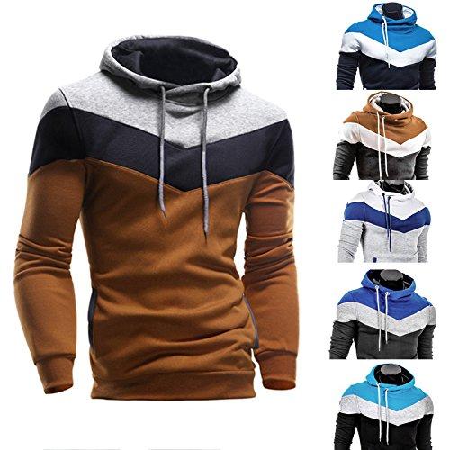À Capuche D'usure Manteau 2 Lonshell Tops Chaud Slim Sweatshirt Homme noir Hiver Capuchon Pull Sweat gIwqXZq