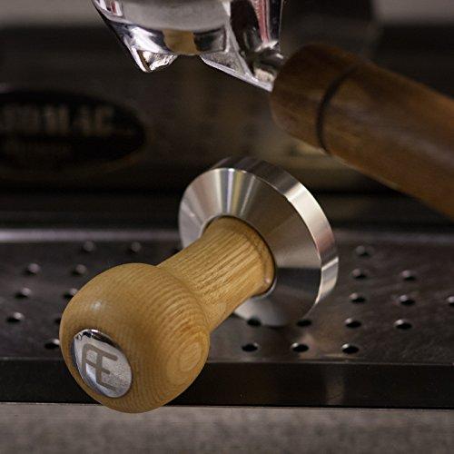 AE Fellini Tamper (57mm) P - Quality espresso tamper - Stainless steel base - hardwood handle