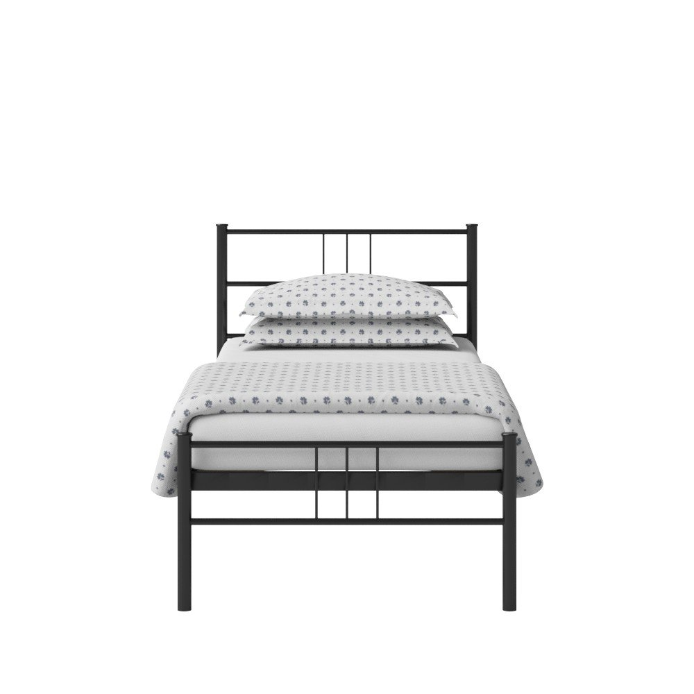 The Original Bed Co. Mortlake Eisenbett Metallbett Metall Bettrahmen Satin Schwarz 90 x 190 cm