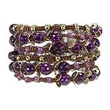 Love Heals Goa 42 Inch Multi Wrap Bracelet in Amethyst