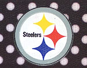 NFL Officially Licensed Pittsburgh Steelers Polka Dot Headband at Steeler Mania