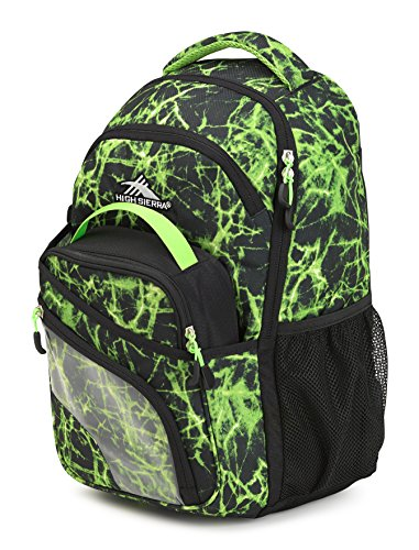 High Sierra Wiggie Lunch Kit Backpack, Lime Fire/Black/Lime - Backpack+Lunch Kit ()