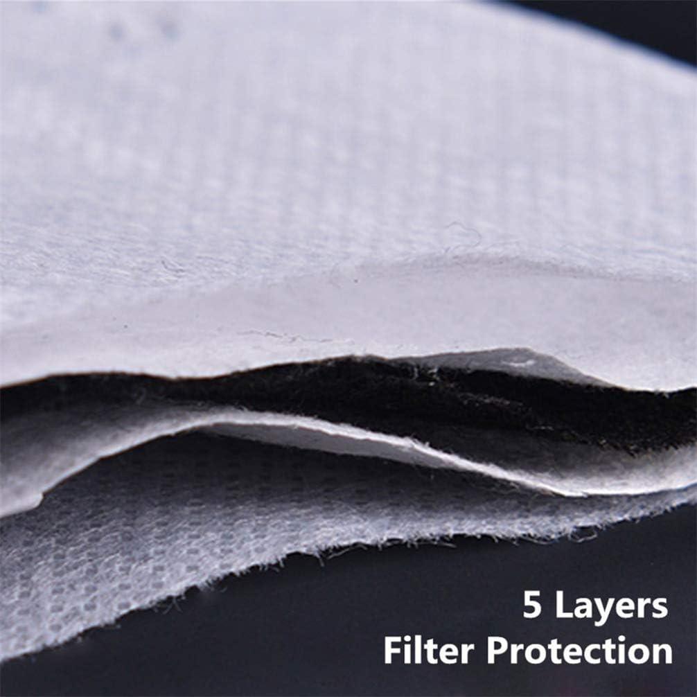 Tomaibaby 5 Piezas Profesional Pm2 7 Cm 10 5 Filtros Reemplazables de Filtro de Carb/ón Activado Filtro Anti Bruma Papel Protector para Ni/ños Adultos