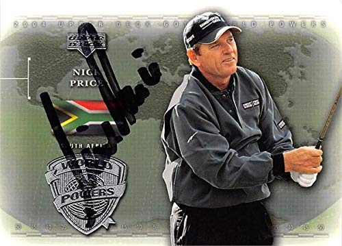 Nick Price autographed trading card (Golf, PGA Tour, South Africa, SC) 2004 Upper Deck World Powers ()