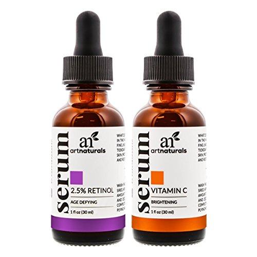 Suero De Vitamina C Y Suero De Retinol Retinoide Para La Cara - Tratamiento Facial Completo - 2 Botellas (Limpieza De Cutis)