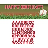 Creative Converting Sports Fanatic Baseball Giant Party Banner with Stickers, Multicolor