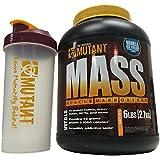 Mutant MASS Gainer, Ultimate Size and Strength Gainer, 6 Pound with BONUS Mutant Shaker Bottle (Vanilla Ice Cream)