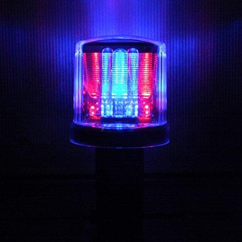 色いろソーラー工事灯幅80mm50個セット(透明カバー/点滅赤青) B07BTVTCRY