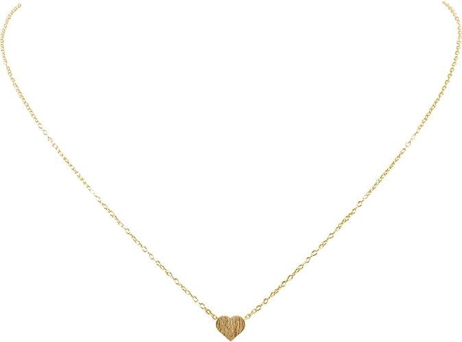 Amazon Com Humble Chic Tiny Heart Necklace Delicate Dainty