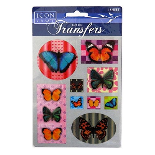 Rub on Transfers - Coloured Butterflies, by Icon Craft