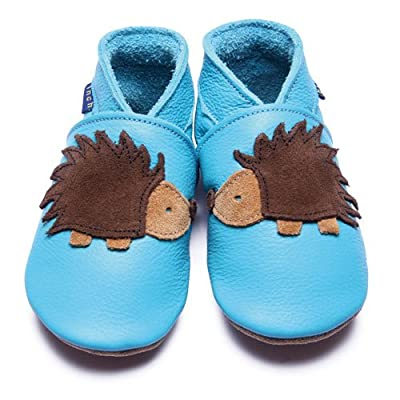 Inch Blue - 1595 M - Chaussures Bébé Souples - Hedgehog - Turquoise - T 19-20 cm