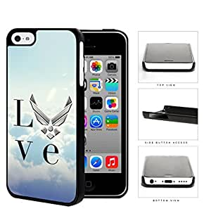 Love United States Air Force Hard Plastic Snap On Cell Phone Case Apple iPhone 5c