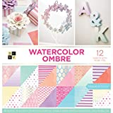 American Crafts Card Stock 12''X12'' Watercolor Ombre Premium Printed Cardstock Stack