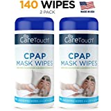 Care Touch CPAP Cleaning Mask Wipes - Unscented, Lint Free - 70 Wipes, Pack of 2-140 Wipes Tota