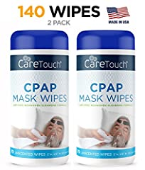 Care Touch CPAP Cleaning Mask WipesFor people sleeping or using a CPAP, BIPAP or any other PAP machines, it is important to constantly clean the machines and tubes to keep it sterile, germ and bacteria free. A person that sleeps approximately...